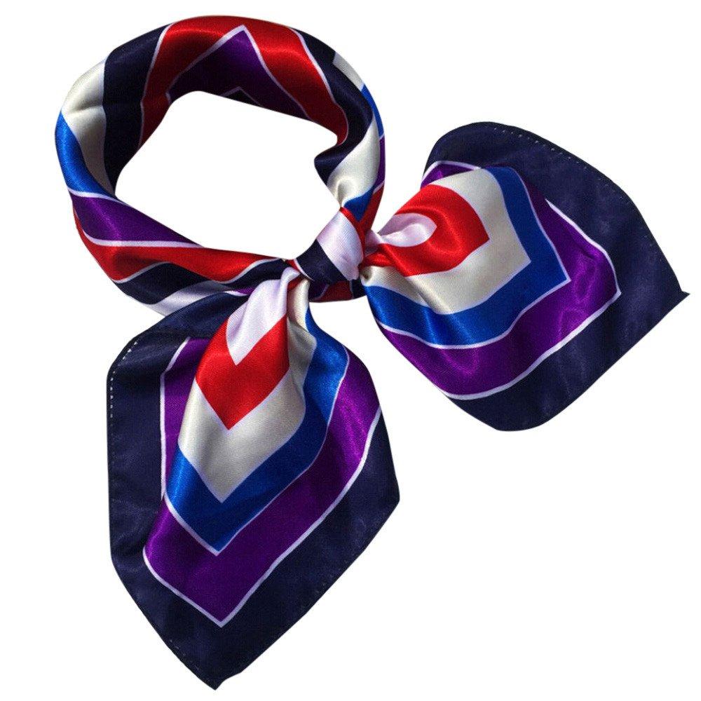 MEIbax Damen Platz Kopftuch Wraps Schals Damen 50x50CM Gedruckt Halstuch Kopftuch Niedliches Bandana Stirnband Haarband