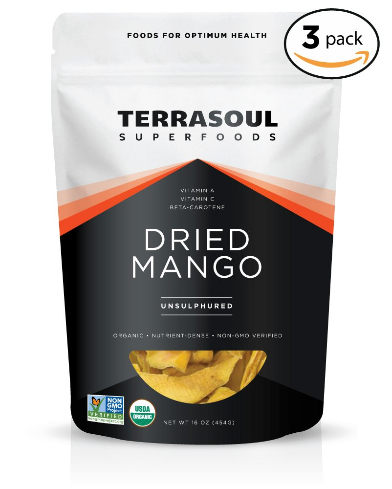 Terrasoul Superfoods Organic Mango Slices, 3 Pounds