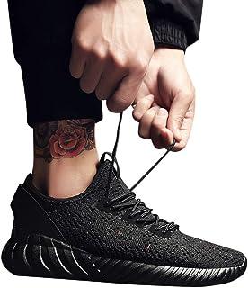 Geili Herren Sneaker Turnschuhe Leichte Atmungsaktiv Rutschfest Mesh Sportschuhe Männer Freizeit Flache Schnürschuhe Trekking Hiking Laufschuhe Halbschuhe