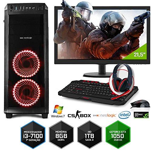 PC Gamer Neologic CS BOX NLI7033 Intel Core i3-7100 8GB(Gtx1050 2GB)1Tb+Monitor 21,5 Win 7
