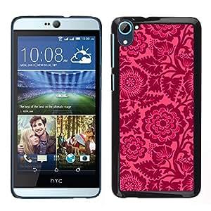 For HTC Desire D826 , S-type® Floral Pink Petals Wallpaper Vintage - Arte & diseño plástico duro Fundas Cover Cubre Hard Case Cover