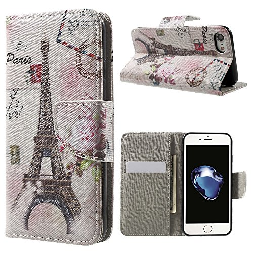 Defunct Eiffel Tower Faux Leather Case for iPhone 7 4.7 inch