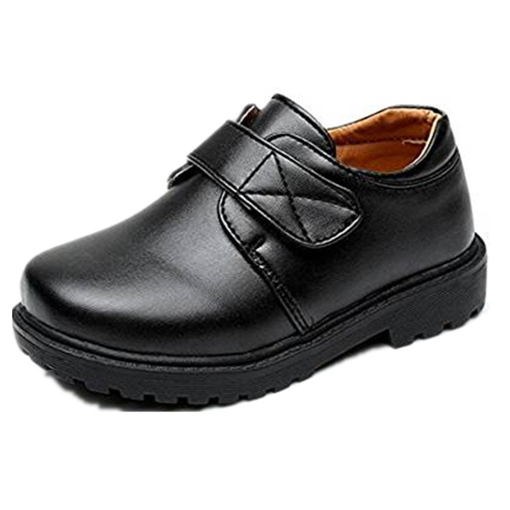Bumud Boy's Girl's School Uniform Loafer Oxford Dress Shoe (Toddler/Little Kid) (9 M US Toddler, Black 2)