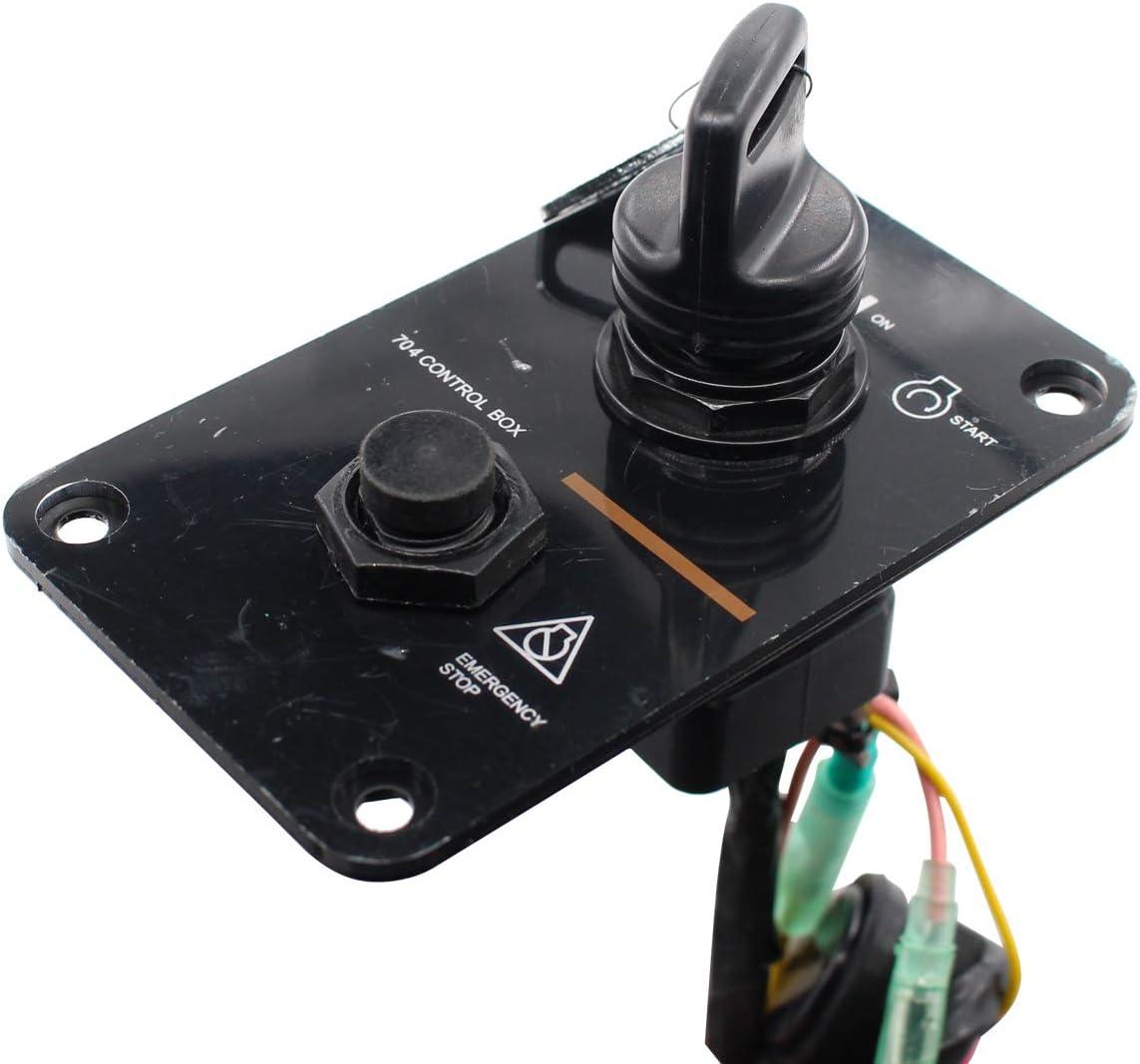 XtremeAmazing 12V Single Engine Key Switch Panel Assembly for Yamaha Outboard Yacht 704-82570-12-00 704-82570-11-00 704-82570-08-00