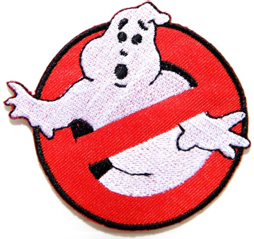 Ghostbusters No Ghost Movie Comics Cartoon Logo Kid Baby Jacket T shirt Patch Sew Iron on Embroidered Symbol Badge Cloth Sign Costume By Prinya (Ghostbuster Logo Costume)