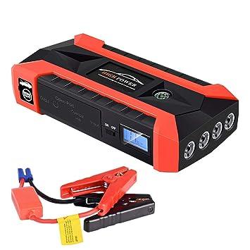 Maayun 89800mAh 12V LCD 4 USB Car Jump Starter Pack Booster ...