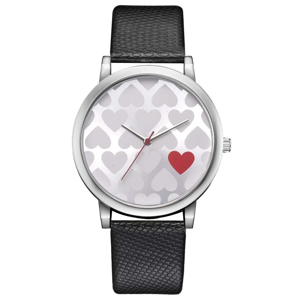 Clearance On Sale Watches,FRana Wrist Watch Retro Leather Band Luxury Fashion Heart Pattern Analog Quartz Watch