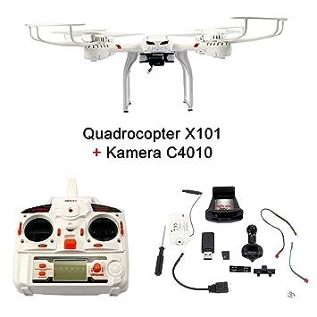 Fun tomia cuadricóptero RC dron MJX X101 WiFi de 6 Axis Gyro Quad ...
