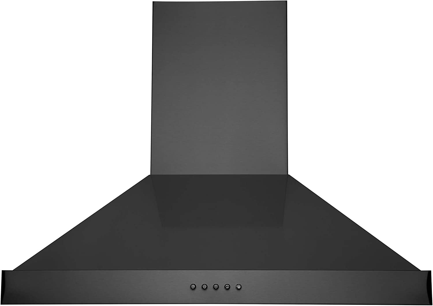 """Hauslane   Chef Series 30"""" WM-590   Black Stainless Steel Fingerprint and Smudge Resistant   3 Speed Wall - Mount Kitchen Fan   Easy Clean Baffle Filters, LED   Duct or Ductless Options"""