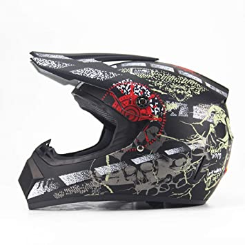 ZHAORLL Motociclista Adulto Off Road Casco ATV Dirt Bike Descenso MTB DH Racing Casco Cruz Casco