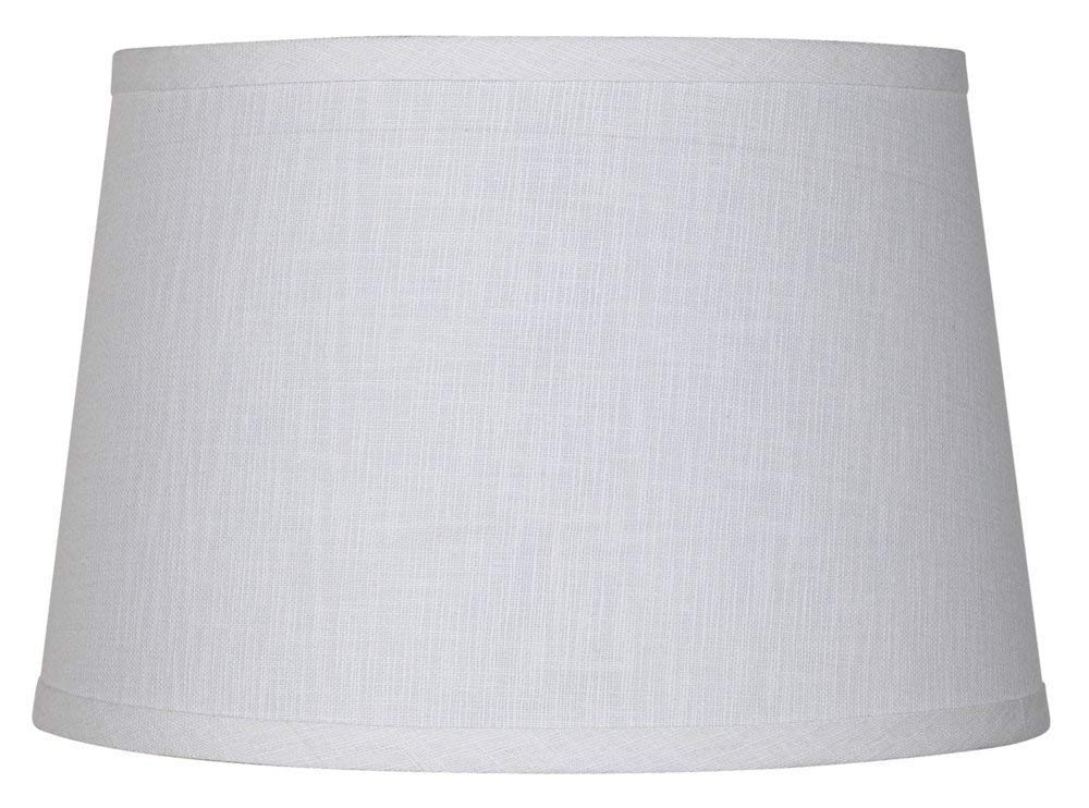 Upgradelights White Linen 12 Inch Uno Lamp Shade Replacement 9x12x7.5