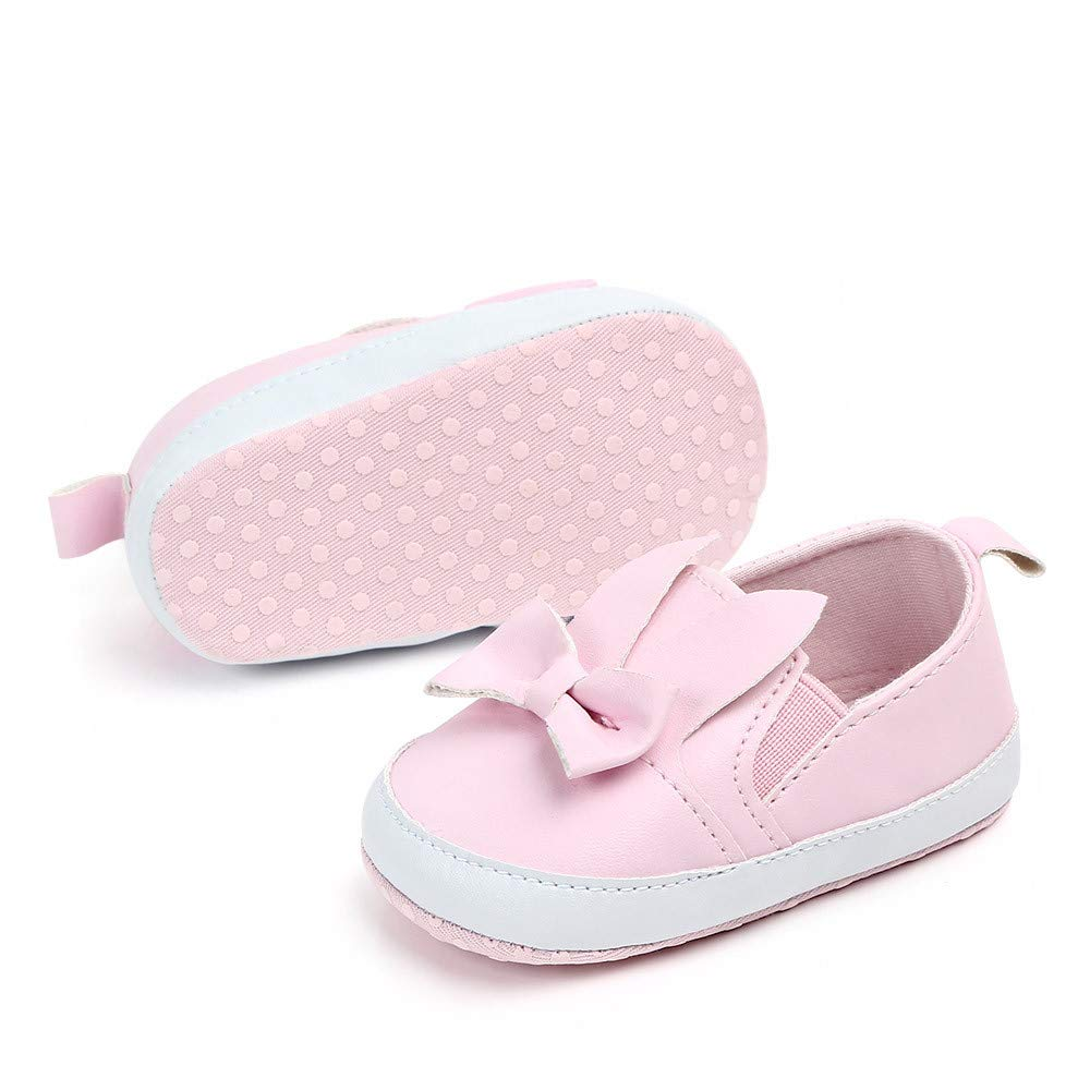 UCQueen Cute Baby Girls Newborn Infant Baby Bow Casual First Walker Toddler Shoes