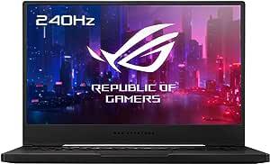 "ASUS ROG Zephyrus M15 GU502LW-AZ037T - Portátil Gaming de 15.6"" FullHD 240Hz (Intel Core i7-10750H, 16GB RAM, 512GB SSD, NVIDIA RTX2070-8GB, Windows 10) Negro - Teclado QWERTY español"