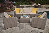 Keter California All Weather Outdoor Patio Armchair
