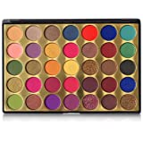 FindinBeauty 35 Colors Pro Eyeshadow Golden Palette,Multi Reflective Shimmer Matte Pressed Glitter - Bright Natural…