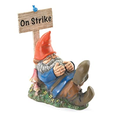Gifts & Decor On Strike Sleeping Gnome Outdoor Statue: Home & Kitchen