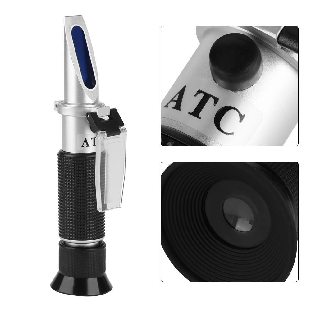 1 1 st/ück Professionelle Genaue Refraktometer mit ATC Handfraktometer Schneidfl/üssigkeit Tester Salzgehalt Meter Salinometer