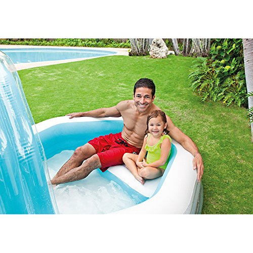 Intex Family Cabana Swim Center Pool, 122 x 74 x 51, for Ages 3+
