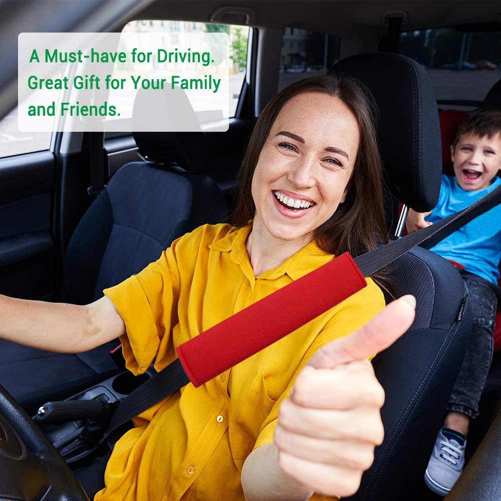 Shoulder Bag Laptop Bag Suitable for Car Seat Belt A Must Have for Your Car 4-Pack Soft Car Seat Belt Shoulder Pad Cover for Adults and Kids Red-4P Airzir Car Seat Belt Cover Pad Backpack