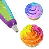 Pu Ran® Icing Piping Bag Nozzle Converter Tri-color Cream Coupler Cake Decorating Tools