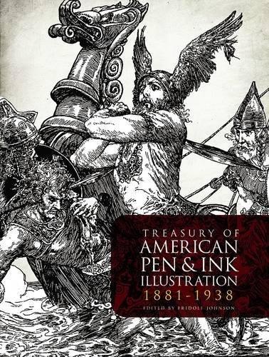 Treasury of American Pen & Ink Illustration 1881-1938 (Dover Fine Art, History of Art) - 1938 Art