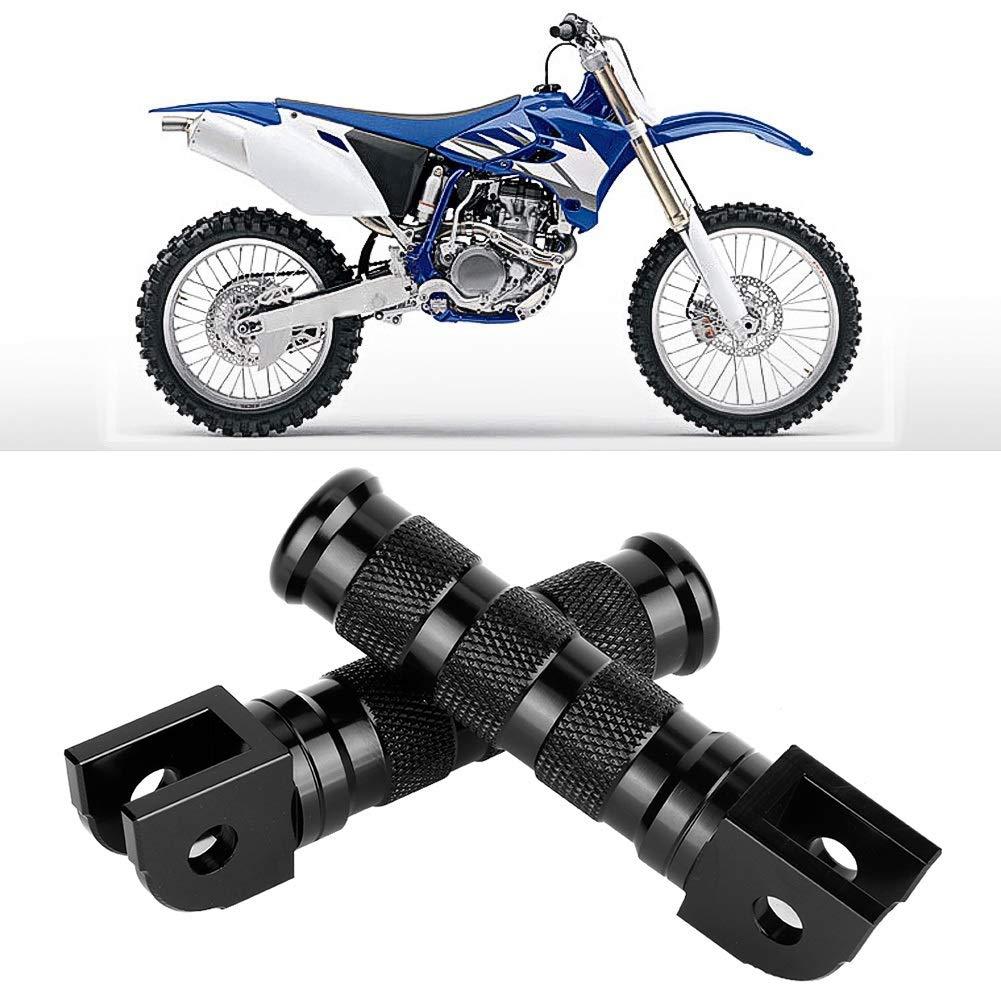 Vobor Motorrad Hinten Fu/ßrasten-CNC Aluminium Alloy Universal Schwarz Motorrad Hinten Fu/ßrasten Pedal Modifikation Ersatz