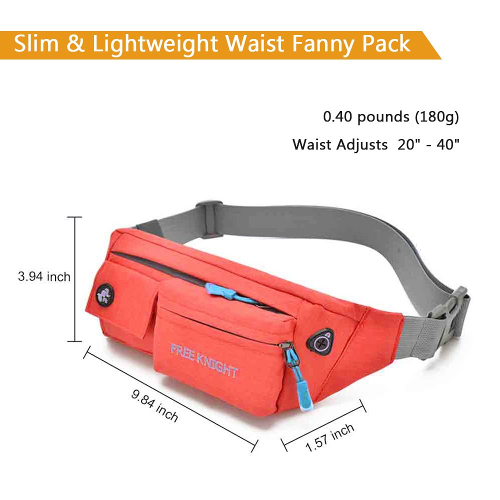 0411aa37bf13 Fvino Waist Bag Pack Slim Water Resistant Fanny Pack Travel Bum Bag ...