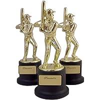 3unidades), color negro y dorado Deportes Premio Trofeos para profesores y niños, 12,7cm