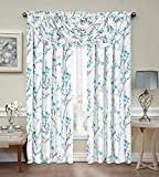 Regal Home Collections Misaki Window VALANCE 44-Inch x 37-Inch Blue