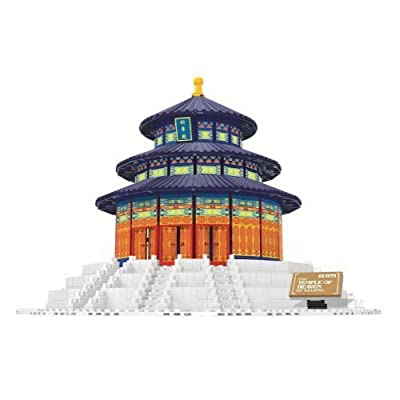 Beijing Temple of Heaven Blocks 1052 Pcs Set in Huge Gift Box !! World's Great Architecture Series: Toys & Games