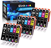 E-Z Ink (TM) Compatible Ink Cartridge Replacement for Canon PGI-250XL PGI 250 XL CLI-251XL CLI 251 XL to use with PIXMA MX922 MG5520 (3 Large Black, 3 Cyan, 3 Magenta, 3 Yellow, 3 Small Black) 15 pack