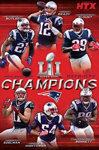 Trends International RP15138 Collector's Edition Wall Poster Super Bowl Li Champions Ne Patriots, 24 x 36