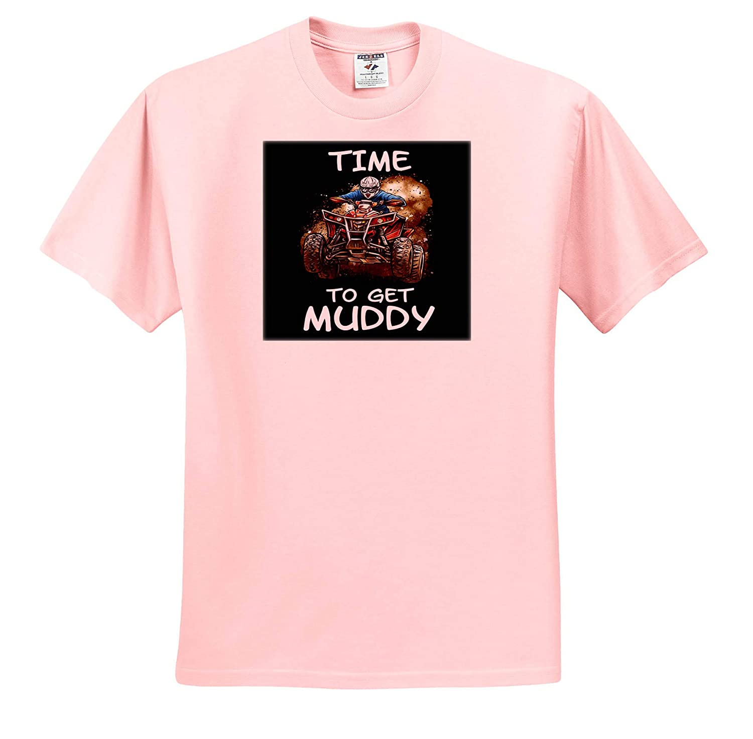 Time to Get Muddy for ATV and Quad Lovers Offroad Adult T-Shirt XL ts/_320109 3dRose Sven Herkenrath Sport
