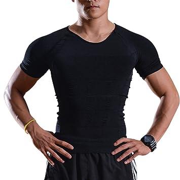 0075cde0133dc IMAGE Débardeur Gainant T-Shirt Amincissant - sous-Vêtements Masculins pour  Hommes - Gilet