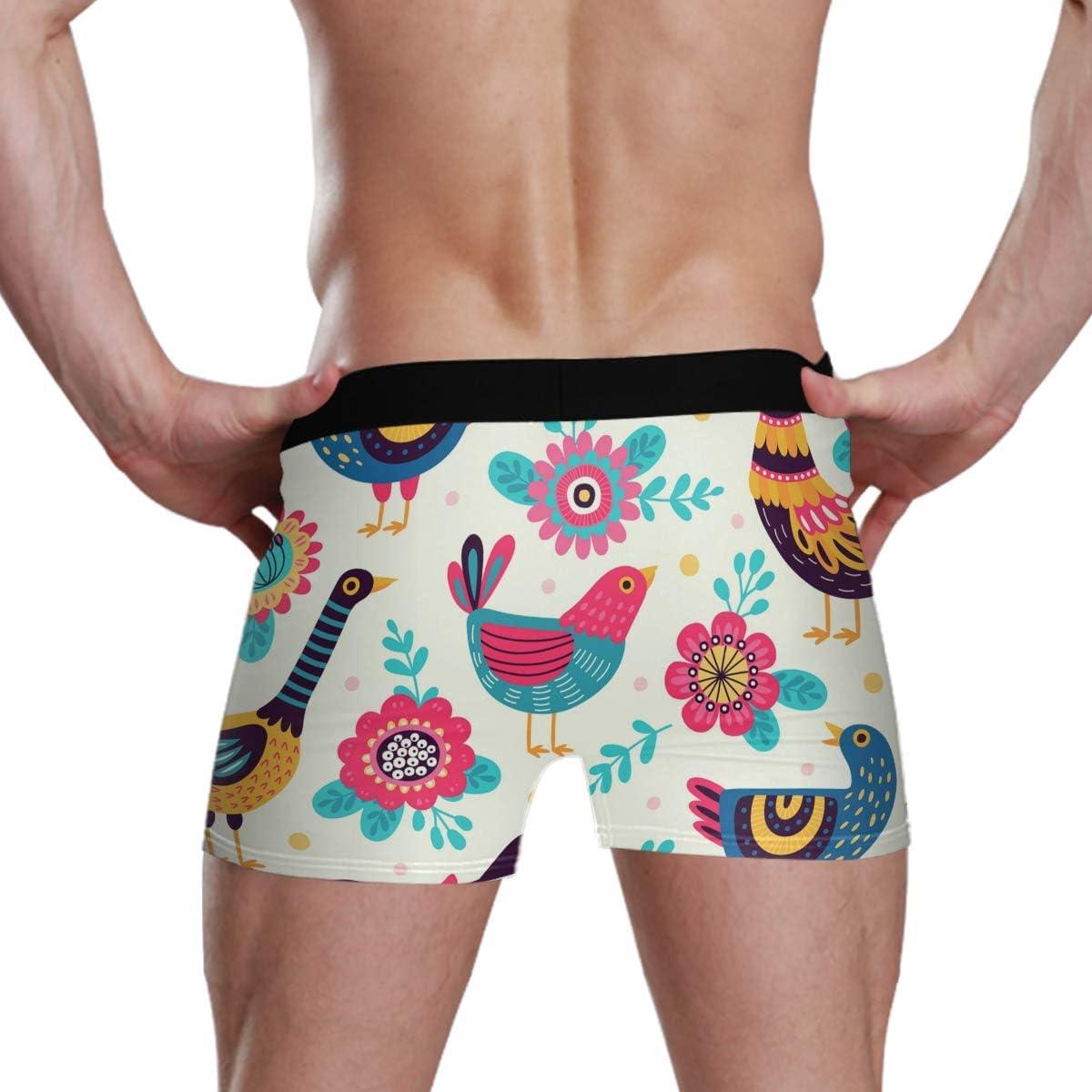 ATZUCL Mens Underwear Elastic Boxer Briefs Beautiful Peacock Soft Breathable S for Men