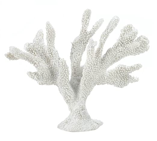 Christmas Tablescape Decor - Large white faux finger coral tabletop tablescape décor