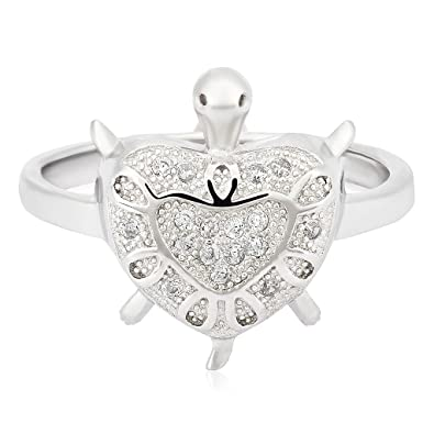 9241fe3f6559 Buy Erotas Sterling Silver LR Turtle Ring For Men MLRT0013(9) Online ...