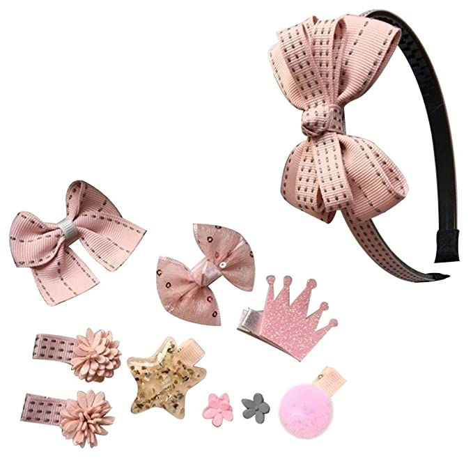 Song Cute 10pcs Baby Girl Hair Clip Bow Flower Mini Barrettes Party