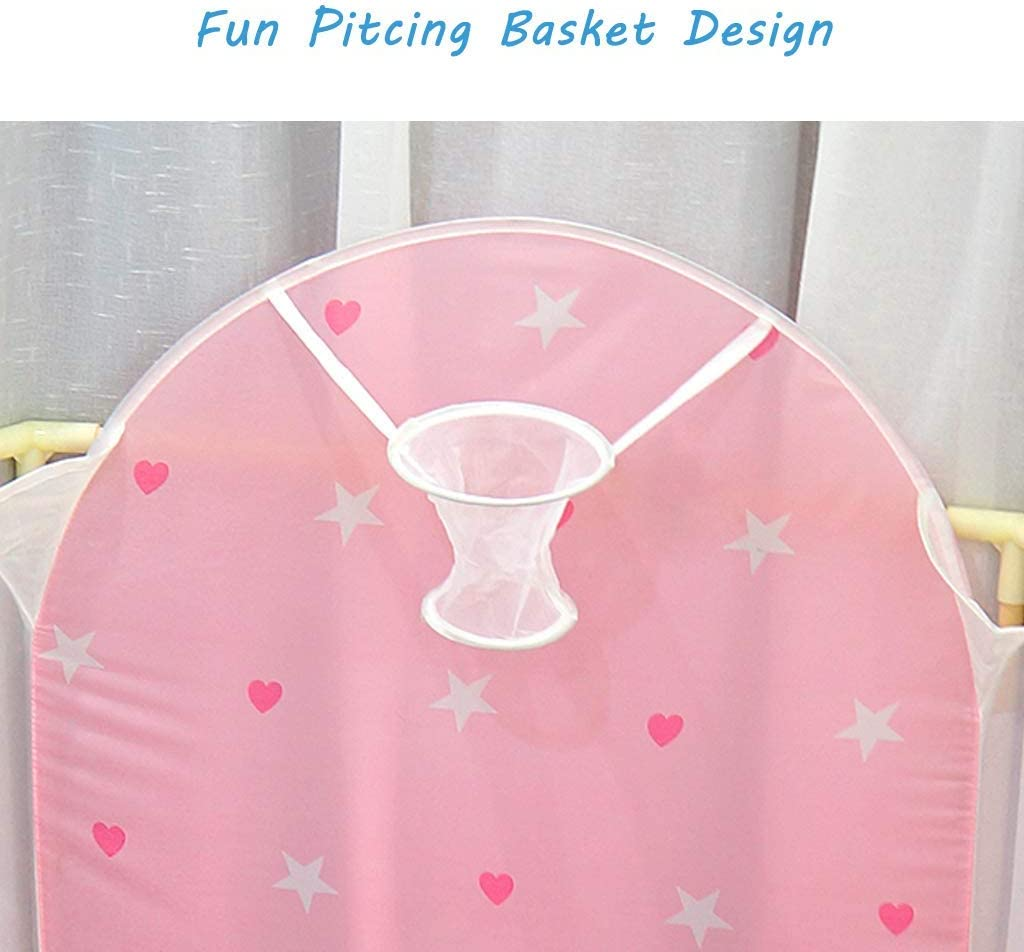 Hexagonal Pink Star Ball Pool Baby Ball Pit Childrens Playpen Foldable Kids Play Tent Indoor and Outdoor