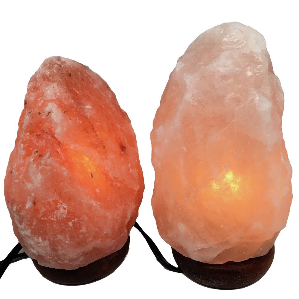 2x Himalaya Natural Handcraft Rough Raw Crystal Salt Lamp,8''-8.5''Tall, X064, Exact Item Delivered by Watan Gems