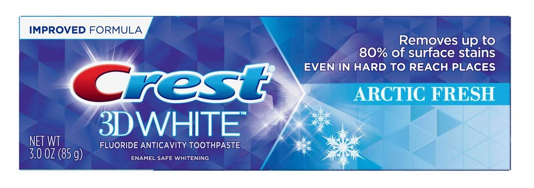 Crest Toothpaste 3 Ounce 3D White Arctic Fresh (Pack of 2)