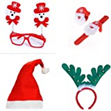 Trendy Tap Kids Santa Theme Christmas Party Accesories (Multicolour)
