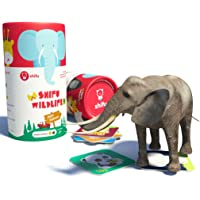 Shifu Jeep Safari Animals Ar Educational 4D Game For Toddlers 20 Cards, Toy Gift For Kids, Age 2+ - Green