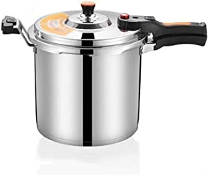 Pressure cooker, stainless steel 304 pressure cooker, household and commercial soup pot stew pot induction cooker general 4L, 5L, 6L, 8L, 10L gas stove (Color : Silver, Size : 8L)