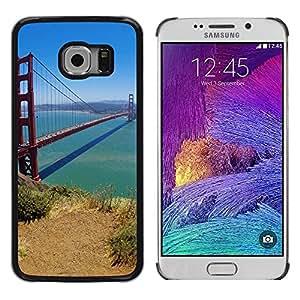 LECELL -- Funda protectora / Cubierta / Piel For Samsung Galaxy S6 EDGE SM-G925 -- San Francisco Bridge --