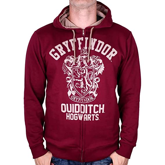 985a504fec00 Sweat Zippé Harry Potter - Gryffindor Quidditch Vintage  Amazon.fr   Vêtements et accessoires