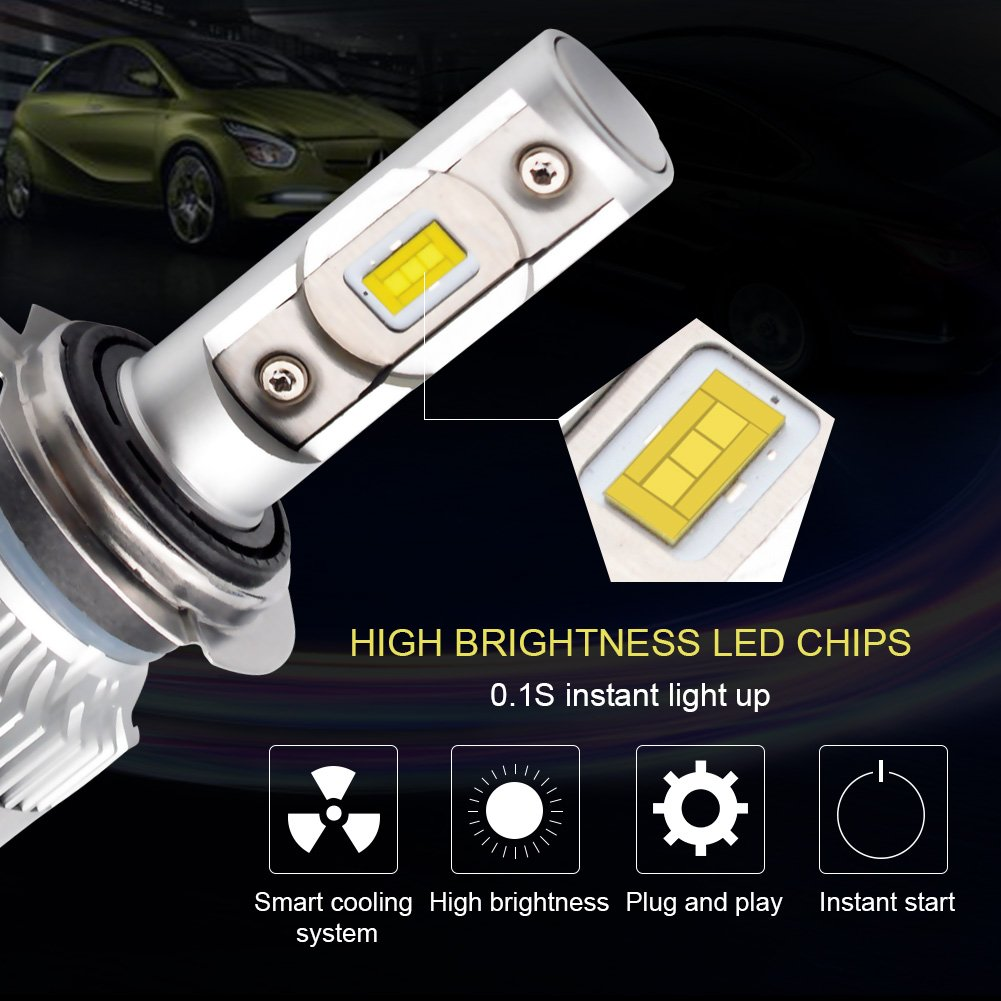 LncBoc T10 501 Bombillas LED Coche 2SMD 3030LED W5W 2825 175 192 168 194 Wedge Lampara para coches 6500K Xen/ón Blanco de interior y exterior 12V Paquete de 2