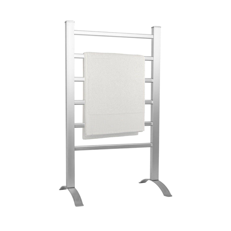 Sale white amp black designer heated towel rails bathroom radiators - Status Portable Aluminium Heated Towel Rail With 6 Heated Bars Silver 100 W
