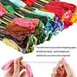 GeMoor 150 Skeins Embroidery Floss - Premium Rainbow Color Cross Stitch Floss with 16 Pcs Sewing Needles - Embroidery Thread for DIY Used - Cross Stitch Thread