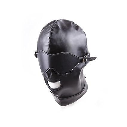 Máscara De Cuero Negro Con Los Ojos Vendados SM Amante De Juguetes